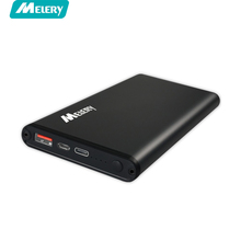 Melery Fast Charge 12000mAh QC3.0 Power Bank with usb type-c power bank rapid charge for Smartphone
