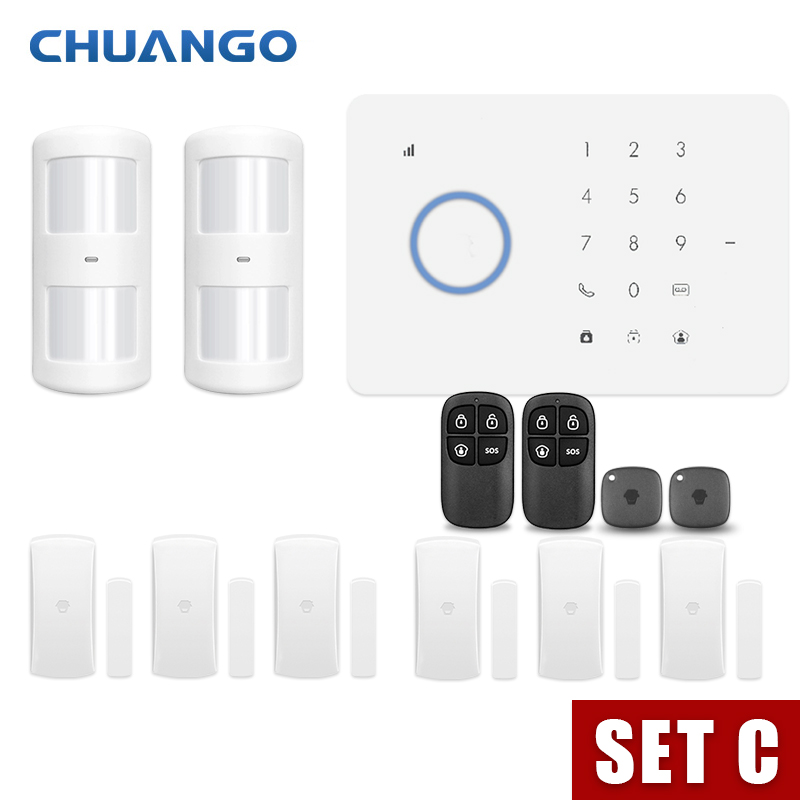 Wireless Home GSM Security font b Alarm b font System Kit APP Control With Smart Motion