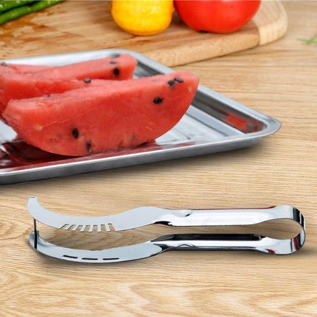 Stainless Steel Sharp Creative Cantaloupe Watermelon Slicer Cutter Fruit Shredder Splitter Corer