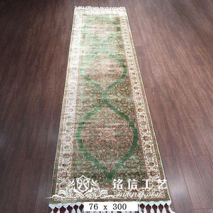 2.5 'x10' à la main tissage Long tapis de soie à la main coureur tapis couloir décor