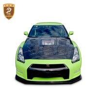 Auto Modified Accessories Carbon Fiber Hoods Suitable For Nissan R35 GTR Transparent Hood Bonnet Covers Car Parts Styling 2015
