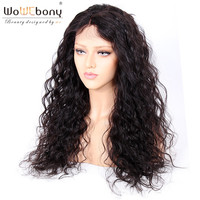 WoW Ebony 250% High Density Spiral Curly Human Hair Glueless Full Lace Wigs For Black Women Pre plucked Hairline for African