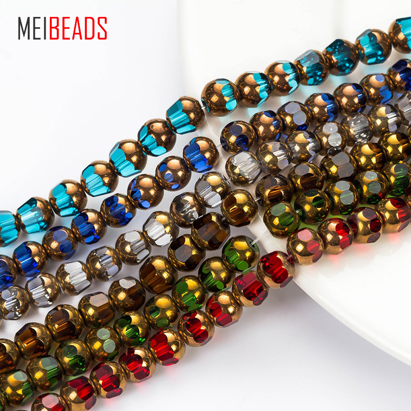 1169 Czech Fire polished Round Beads 4mm Crystal Mix 16 inch *UK  SHOP*