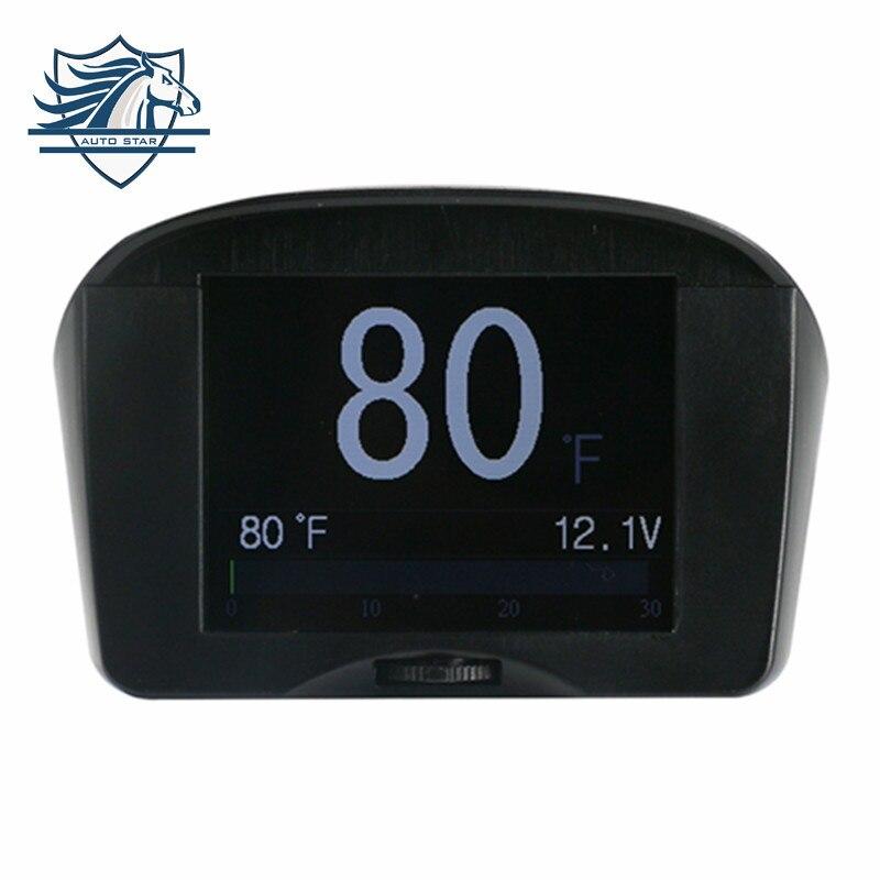 Цена за Оригинальный autool X50 2.4 дюйма автомобиля OBD smart digital метр и сигнализации код неисправности температура воды датчик напряжения измеритель скорости дисплей