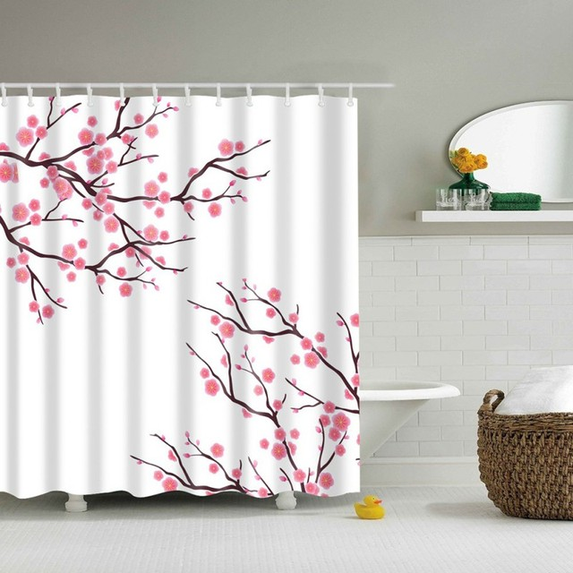 180180CM 3D High Definition Digital Printing Shower Curtain Waterproof Moisture Mildew Eco Friendly YWT