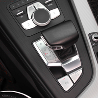 Car Accessories for Audi A5 A4 B9 2017 2018 High Quality ABS Chrome Gear Shift Panel Cover Decoration Trim Interior Stickers
