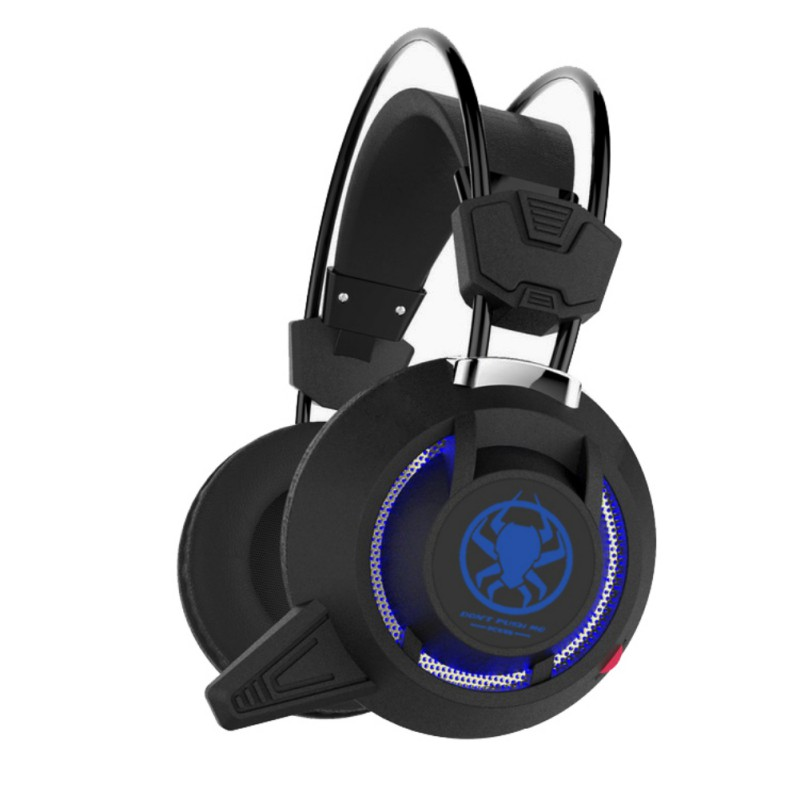 Professional Deep Bass LED Lighting Stylish PC Computer Stereo Gaming Headset Wired Gaming Over Ear Headphone with Microphone new ttlife brand professional gaming headphone with microphone stereo bass headset over ear 3 5mm wired earphone for computer