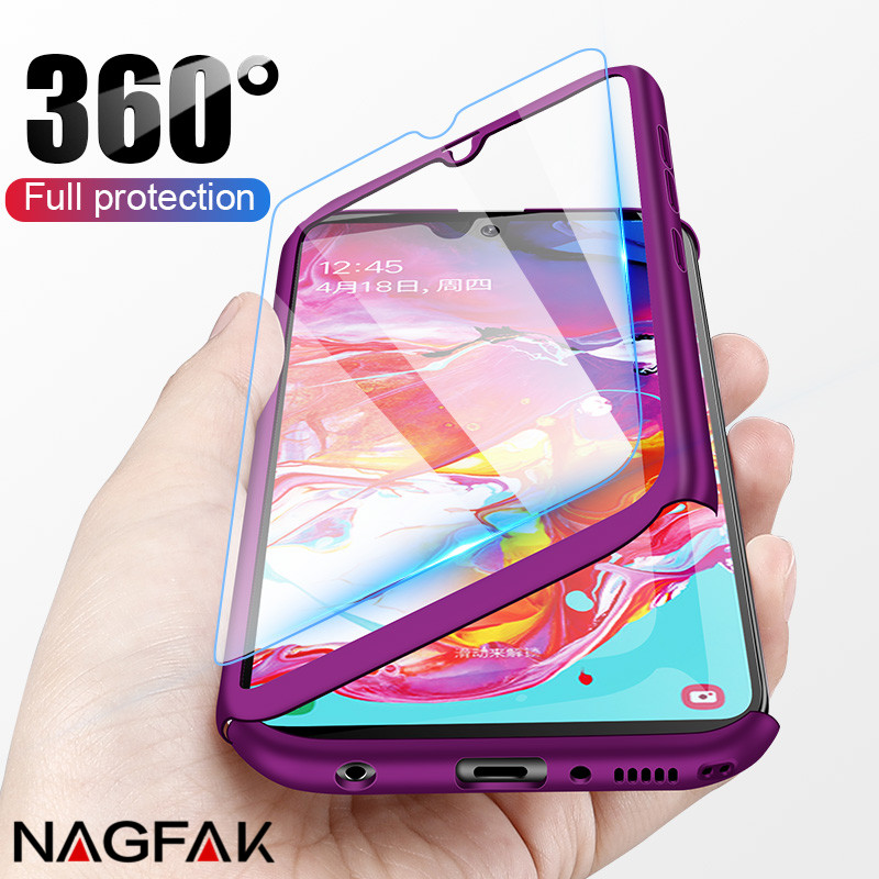 360 Full Protective Phone Case For Samsung Galaxy A40 A50 A60 A70 M30 M10 M20 A10 A20 A30 A5 A7 2017 A6 A8 A9 2018 A3 2016 Case(China)