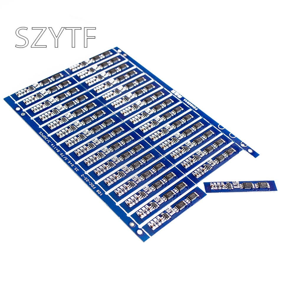 10PCS <font><b>2S</b></font> 3A Li-ion Lithium <font><b>Battery</b></font> 7.4v 8.4V <font><b>18650</b></font> Charger Protection Board for li-ion lipo <font><b>battery</b></font> cell <font><b>pack</b></font> image