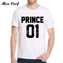 7d490273c0 2018 summer style t shirt Prince Short Sleeve Tops For Men King Queen  Printed Casual T Shirt Couples Tee Shirts L10-F-11