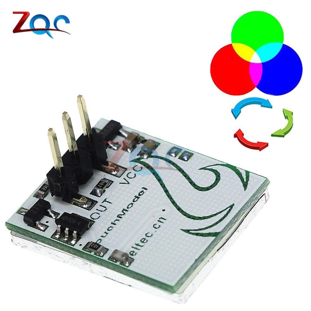 CC 3V 5V 6V botón táctil capacitivo RGB sensor LED con interruptor modulo HTTM DIY tablero electrónico Multi Color Anti-interferencias