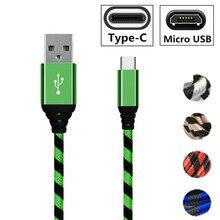 Micro usb fast Charger Type C kabel Draad Voor Galaxy S10 S9 S8 M20 A8S A7 2018 A3 A5 2016 axon 9 pro HTC Desire 600 12 M8 E9 U11
