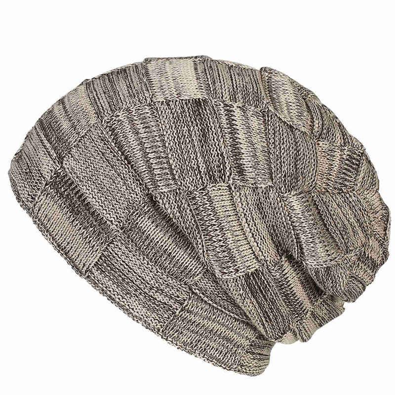 1PC Unisex Women's Winter Warm Casual Slouchy Hat Crochet Ski Beanie Hat Fashion Female Man Soft Baggy Skullies Beanies Men Hat