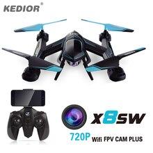 X8SW Multicopter пульт дистанционного вертолет Quadcopter Камера Drone Квадрокоптер Радиоуправляемый Дрон удаленного Управление игрушки или без Камера