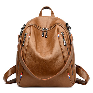 Image 5 - 2019 New High Quality PU Leather Women Backpack Casual Covertible Shoulder Bags Fashion Backpacks Female School Bag Teenager