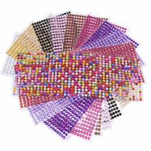 3-6mm 11 Colors Acrylic Crystal Diamond Sticker Emulation Rhinestone Self Adhesive Decal Mobile/PC Car Art Sticker crystals rhinestones car decor decal styling accessories mobile art diamond self adhesive sticker flat acrylic drilling stickers