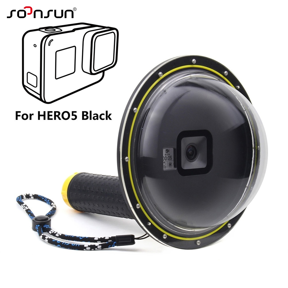 """Prix pour 6 """"GoPro Étanche Dôme Port Couverture pour GoPro Hero 5 Caméra Lentille Dôme Boîtier Étanche Go Pro Hero5 Noir Accessoires"""