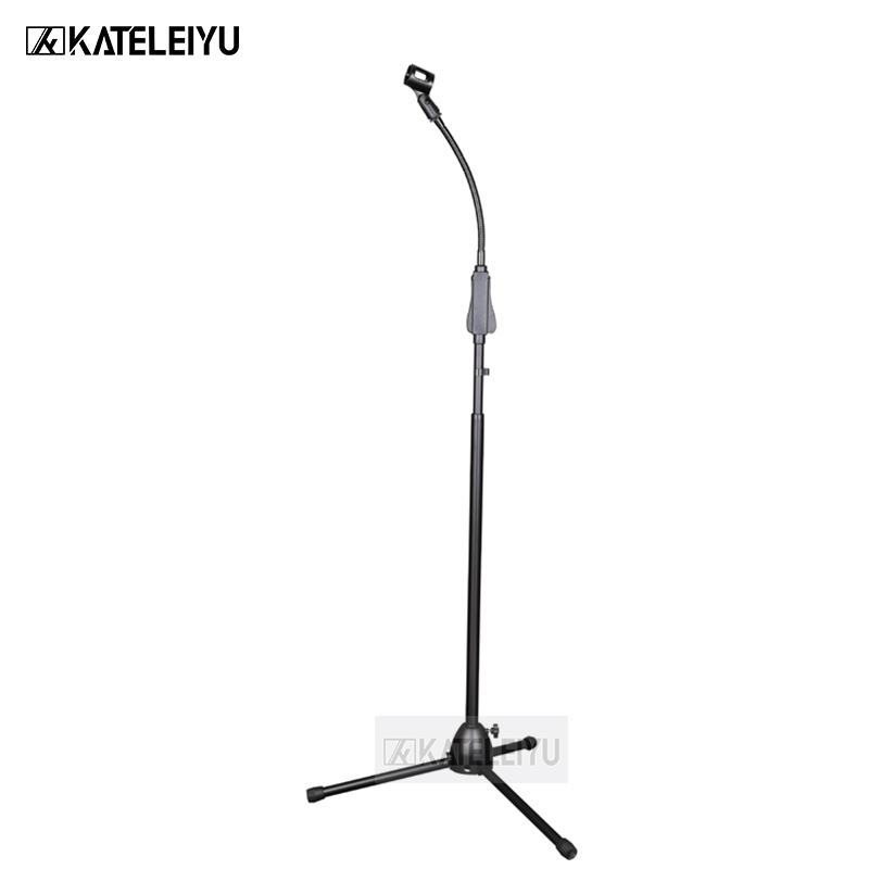 BY 756B  Professional swing boom floor stand microphone holder  Flexible Stage Microphone Stand Tripod|Microphone Accessories| |  - title=