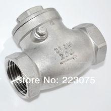 Бесплатная доставка новый 1 » из нержавеющей стали обратный клапан 1000wog 200 фунтов на квадратный дюйм ру16 SS316 CF8M дняо SUS316
