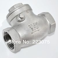 Free shipping New 1 Stainless Steel Swing Check Valve WOG 200 PSI PN16 SS316 CF8M NPT SUS316