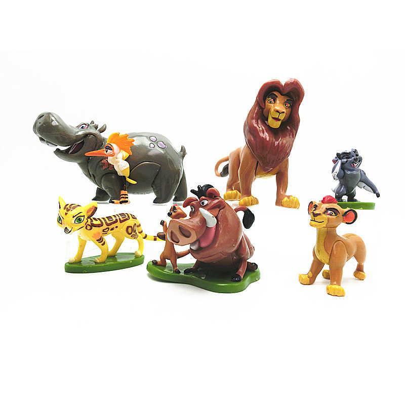 5-9 pçs/set Brinquedo Figura de Ação do PVC O Rei Leão Simba Nala Timon Leão Animais Estatueta Brinquedos Para As Crianças 5-9 cm