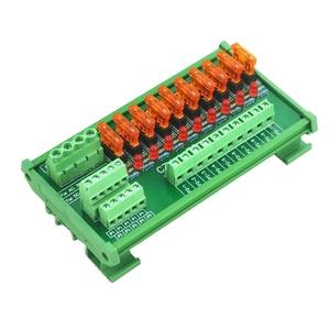 Image 5 - Plattenmontage 10 Position Power Distribution Fuse Modul Bord, für AC/DC 5 ~ 32 V.