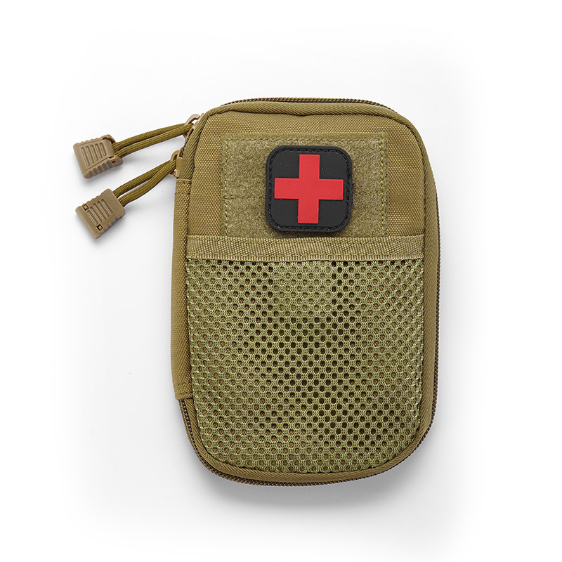 Portable Military First Aid Kit Bug Out Bag Water Resistant Car Emergency Treatment 2