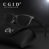 CGID Aluminum Magnesium Alloy Wayfare Sunglasses With Black Frame And Polarized UV400 Lens For Men And