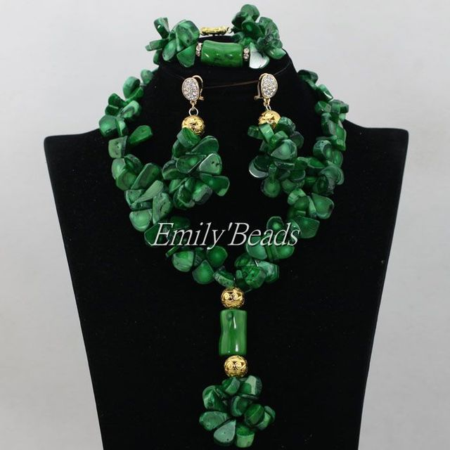 Green Nigerian Coral Beads...