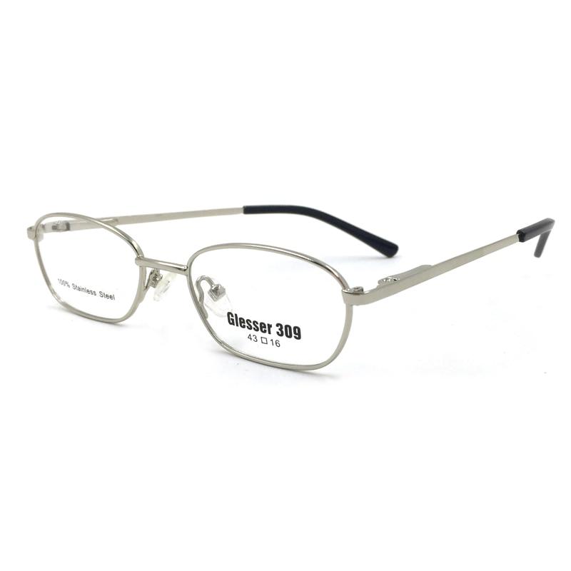 Laura Fadas Prata Clássico Homens de Aro Cheio de Armações de Óculos Limpar  Óculos Frames para Homens oculos de grau masculino c6c212c7db