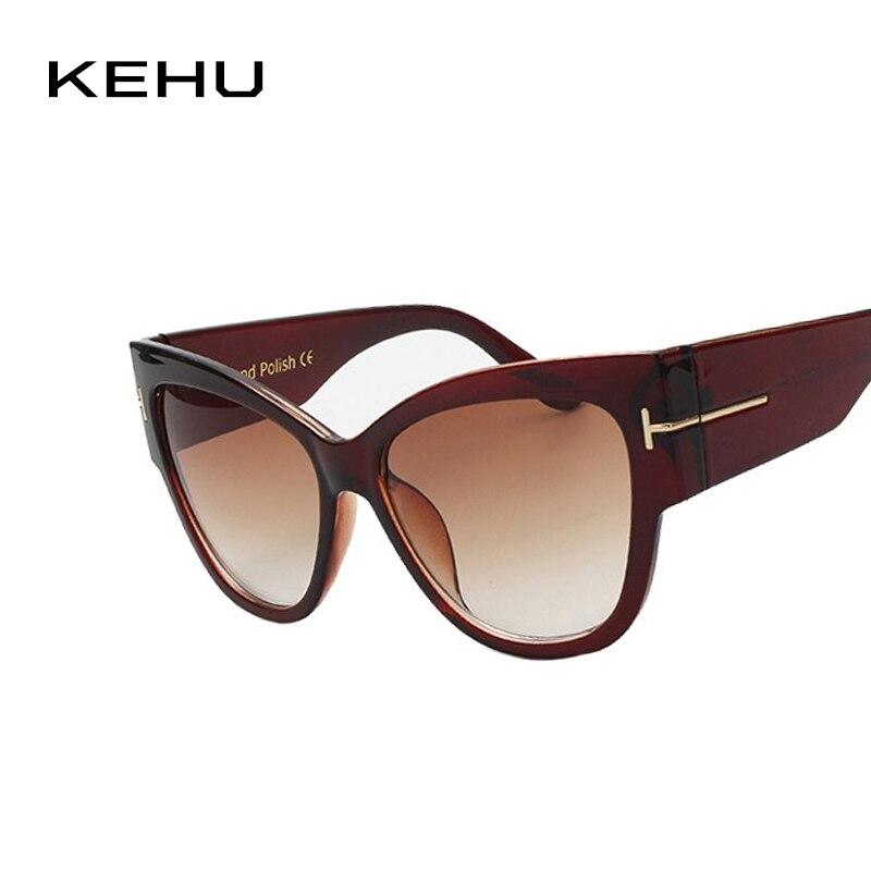 KEHU New Fashion Cat Eye Sunglasses Women Oversized Steampunk Vintage Sun Glasses For Ladies Retro Brand Designer 1