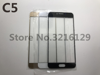 100pcs Touch panel Replacement For Samsung Galaxy c5 c5000 2016 front LCD Outer Glass Lens cover 3 colour