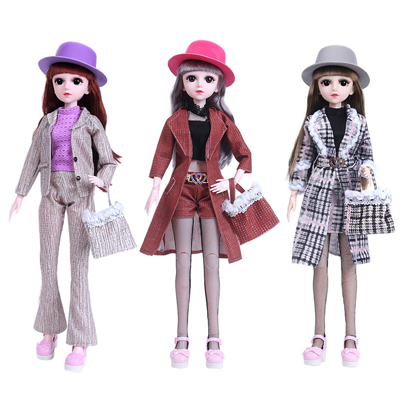 One Set 1/3 BJD Doll with Fashion Doll Clothes Set Casual Outfit Coat, Pants, Skirt with Mini Handbag for Girl Toy Doll Dress UpOne Set 1/3 BJD Doll with Fashion Doll Clothes Set Casual Outfit Coat, Pants, Skirt with Mini Handbag for Girl Toy Doll Dress Up