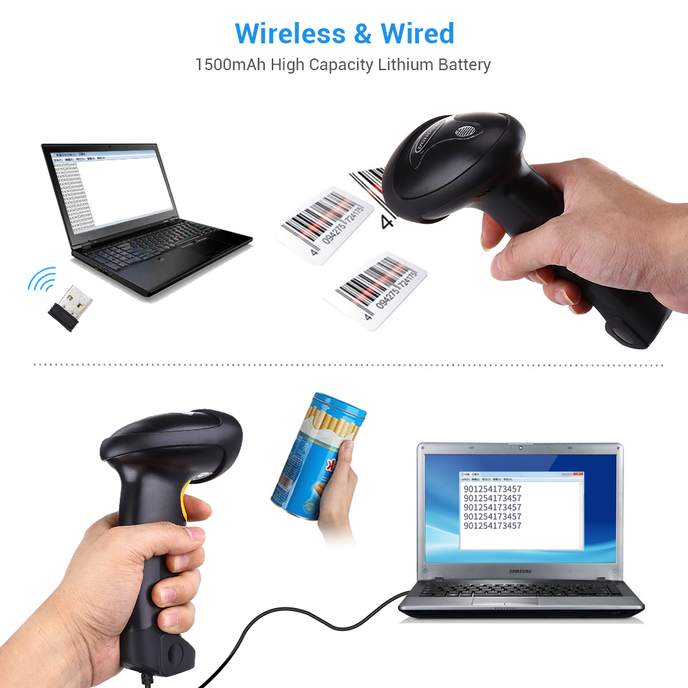 Handheld Wireless Barcode Scanner Reader laptop