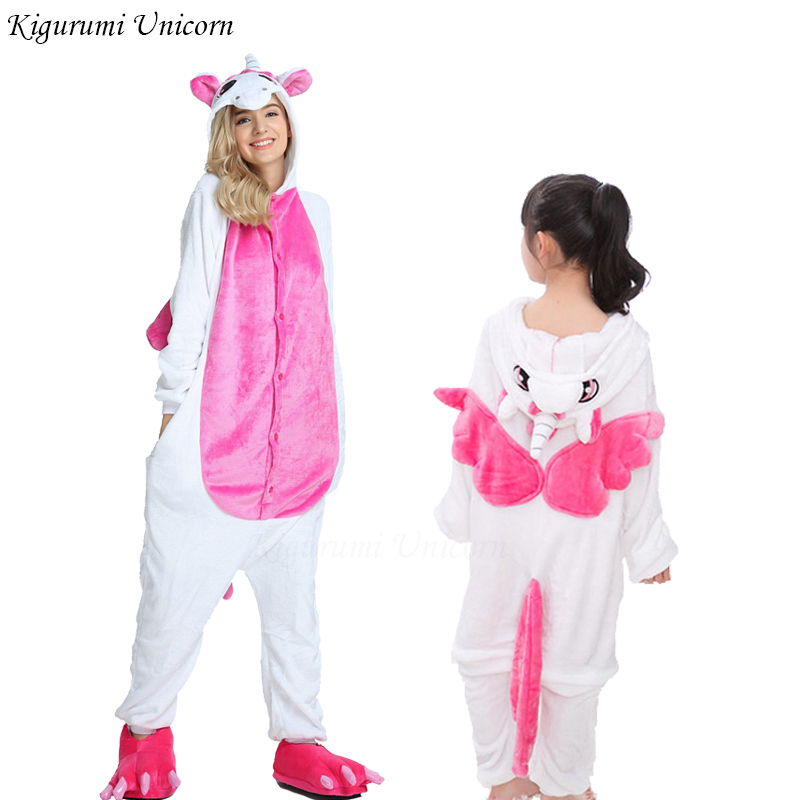 Boys Girls   Pajamas     Sets   Kigurumi Unicorn   Pajamas   For Women Men Onesie Adults Animal Stitch Winter Sleepwear Cosplay Pyjamas Kids