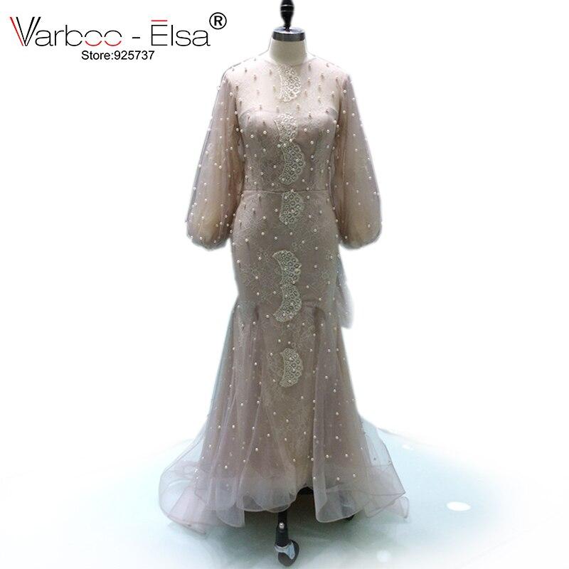 Scoop Neck Long Sleeve Train Prom Dresses Appliques Sheer Black Evening  Dresses 2017 Formal Gown arabic evening dresses beaded ... 7d2c31ed0d77