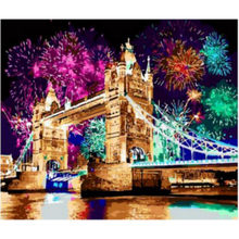 WEEN Colorful Bridge-Painting by numbers, Acrylic paint, Modular canvas pictures, paint by numbers kit for adults 40x50cm(China)