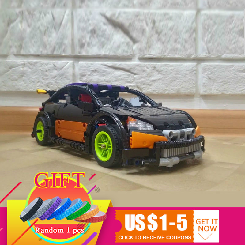 20053 640pcs Technical Series The Hatchback Type R Compatible with MOC-6604 Building Block Toys