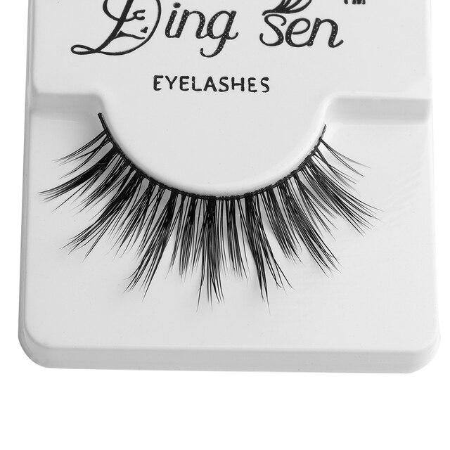 1 Pair Fashion Thick Natural Women 100% Real Mink Hair Handmade Cross Long Eye Lashes Extension False Eyelashes Beauty Makeup False Eyelashes