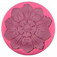 7,3 см мандала цветок силиконовые формы Дизайнер DIY Глина Ремесло бетонные формы для гипса 3d стеновые панели Gips Маллен глина плесень