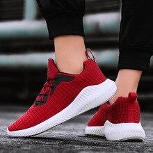 Mens breathable sneakers men vulcanized shoes lace-up sport new designer mens flat zapatos de hombres