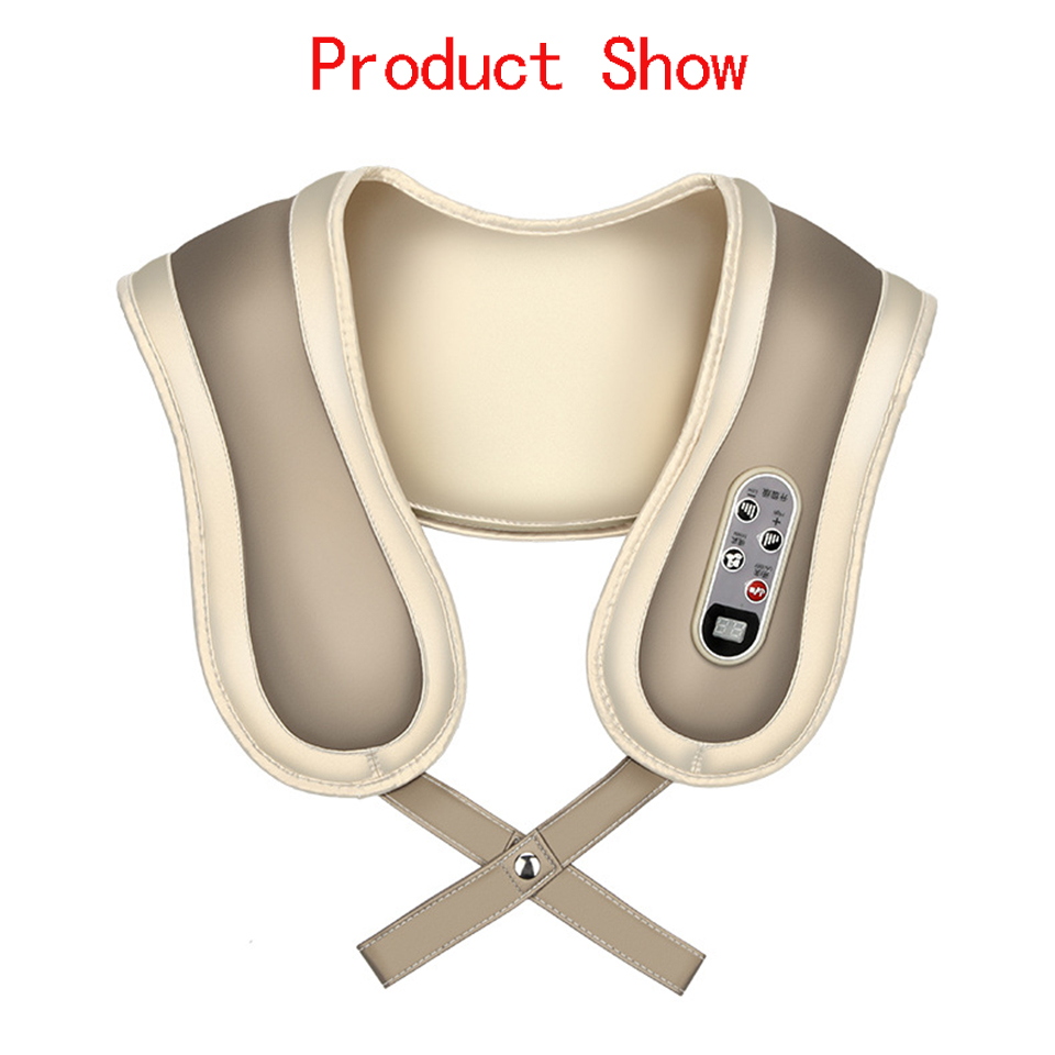 Multifunction Anti Cellulite Home Car Massager Pillow Acupuncture Shiatsu Heating Kneading Neck Shoulder Massager High Quality  недорого