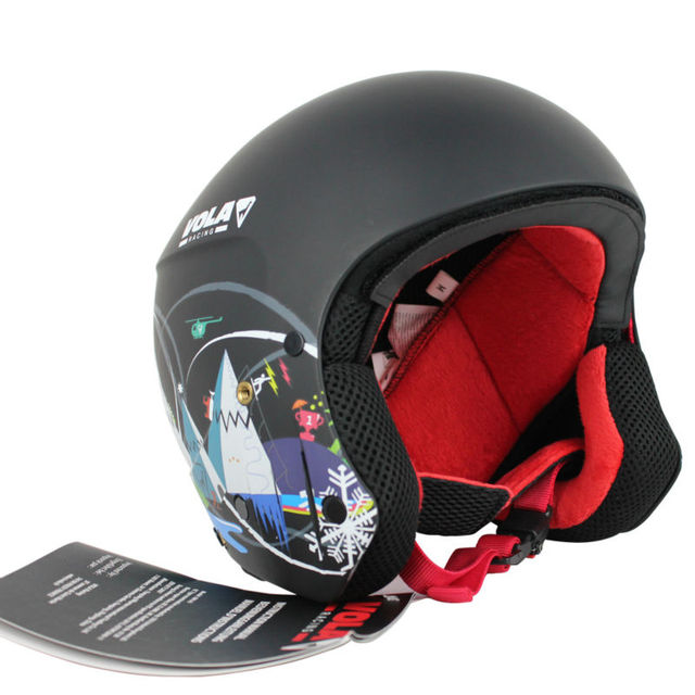 VOLA 2017 New design Adult FIS Ski helmet CE ASTM Certificate Integrally-molded With google retainer Removable Comfotable Padd