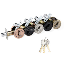 купить High Quality 1piece Zinc Alloy Deadbolt Security Door Lock With Key Safety Lock Interior Door Lock Entrance Locker по цене 2484.1 рублей