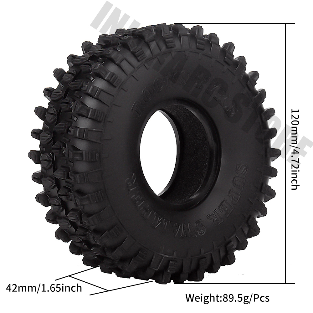 """Image 3 - 4PCS/Set 120MM 1.9"""" Rubber Wheel Tires 1/10 RC Crawler Car for Traxxas TRX 4 Axial SCX10 90047 D90 D110 TF2-in Parts & Accessories from Toys & Hobbies"""