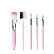 цена на GUANYULAN 5pcs/set Eye Brushes Set Pro Eyeliner Eyeshadow Eyebrow Lip Brushing Beauty Make Up Tools