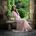 Для беременных Подставки для фотографий для беременных Платья для фотосессии длинные кружевные Беременность платье фотографии для береме...