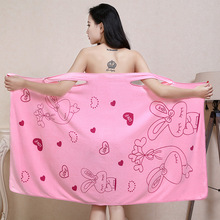 New Style  Wearable Bath Towel Superfine Fibre Cartoon Beach