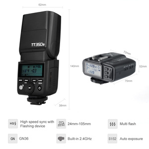 Image 3 - Godox Mini Speedlite TT350S Máy Ảnh Flash TTL HSS GN36 + X1T S Transmitter cho Sony Không Gương Lật DSLR Máy Ảnh A7 A6000 A6500
