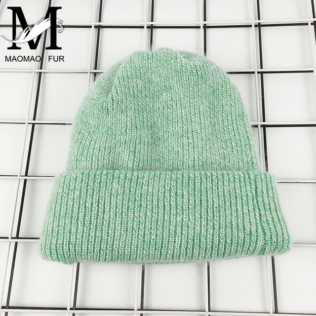 Rabbit Cashmere Knitted Beanies Thick Warm Vogue Ladies Wool Angora Hat 5